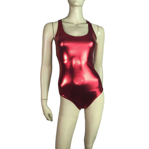 Bodysuit - Red Metallic - Peridot Clothing