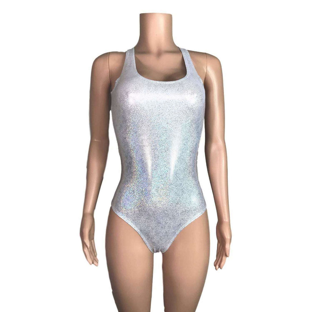Bodysuit - Silver Holographic - Peridot Clothing