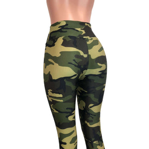 Camo or Camouflage High Waisted Leggings Pants - Peridot Clothing