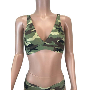 Camouflage Camo Bralette - Peridot Clothing