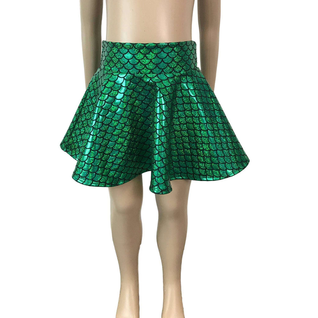 Children's Green Mermaid Scales Holographic - Peridot Clothing