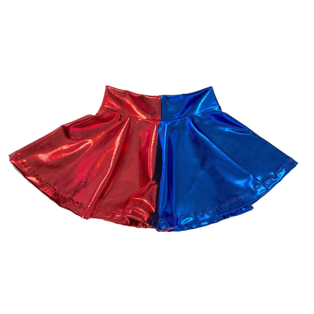 Children's Harley Quinn Metallic Skater Skirt - Peridot Clothing