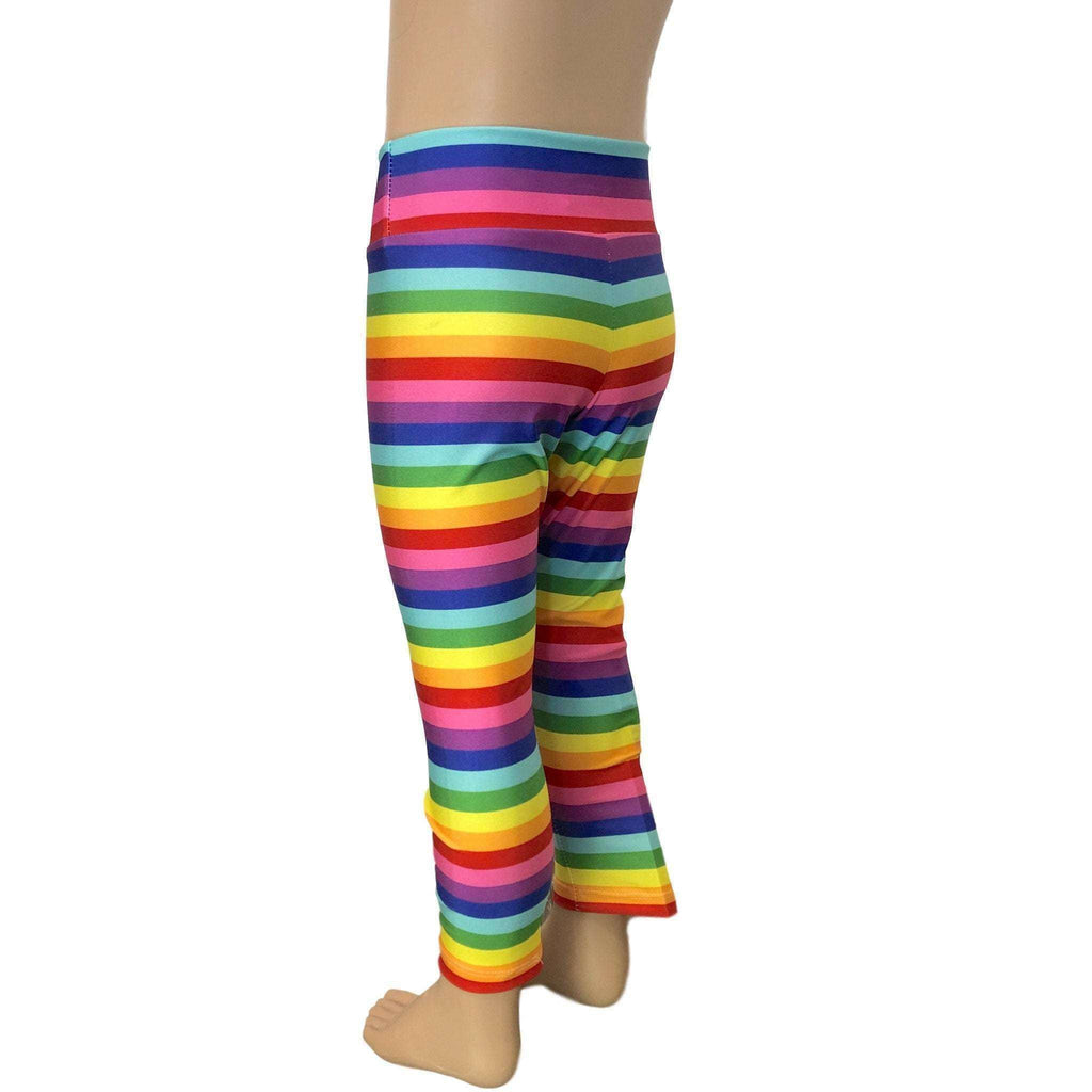 Children's Rainbow Stripe Leggings - Peridot Clothing