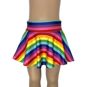 Children's Rainbow Stripe Skater Skirt - Peridot Clothing