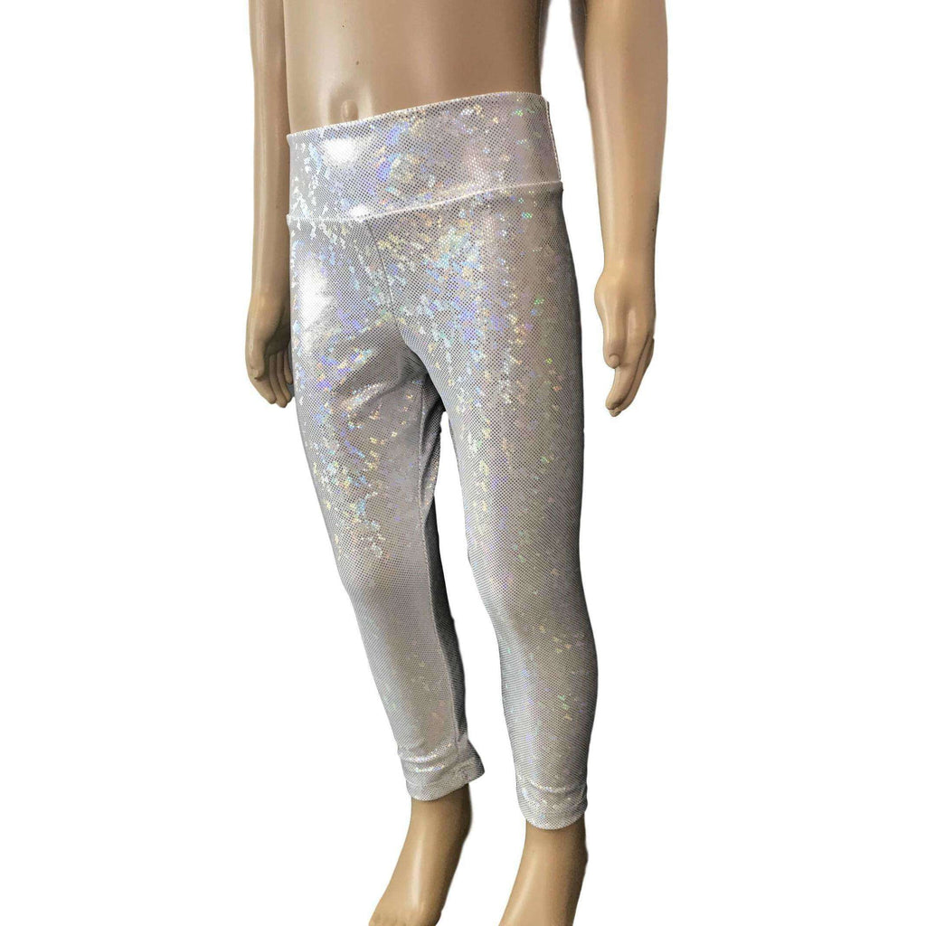 Children's Silver Shattered Glass Leggings - Peridot Clothing