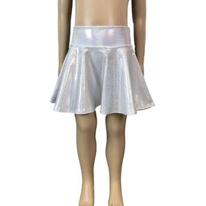 Children's Unicorn Costume Holographic Skater Skirt and Tail - Peridot Clothing
