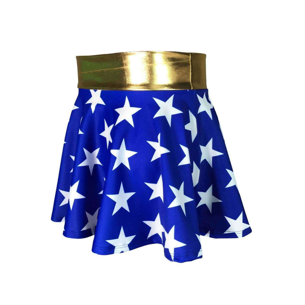 Children's Wonder Woman Inspired Skater Skirt - Peridot Clothing