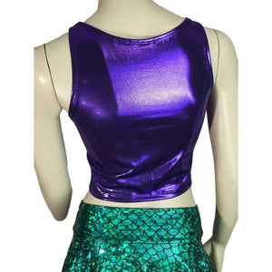 Crop Tank Top - Purple Mystique - Peridot Clothing