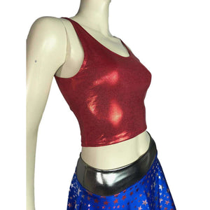 Crop Tank Top - Red Mystique - Peridot Clothing