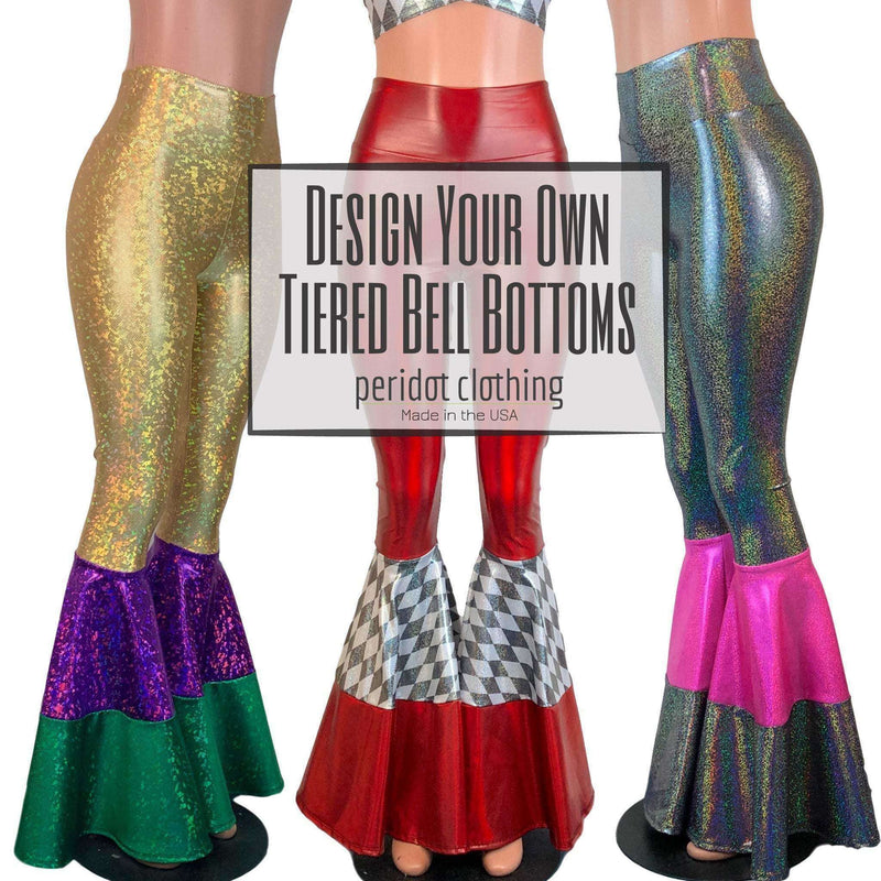DESIGN YOUR OWN Custom Tiered Bell Bottom Flares - Peridot Clothing