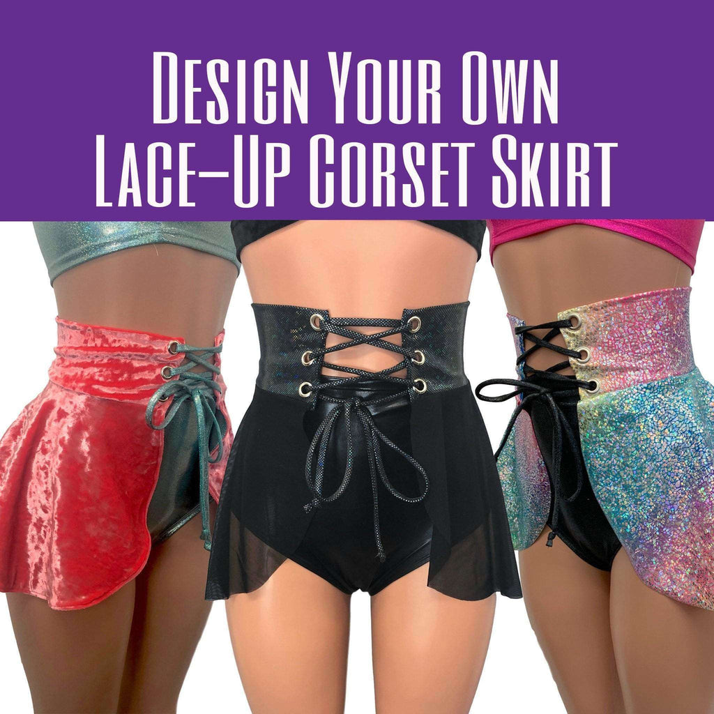DESIGN YOUR OWN Lace-Up Corset Skirt - Peridot Clothing