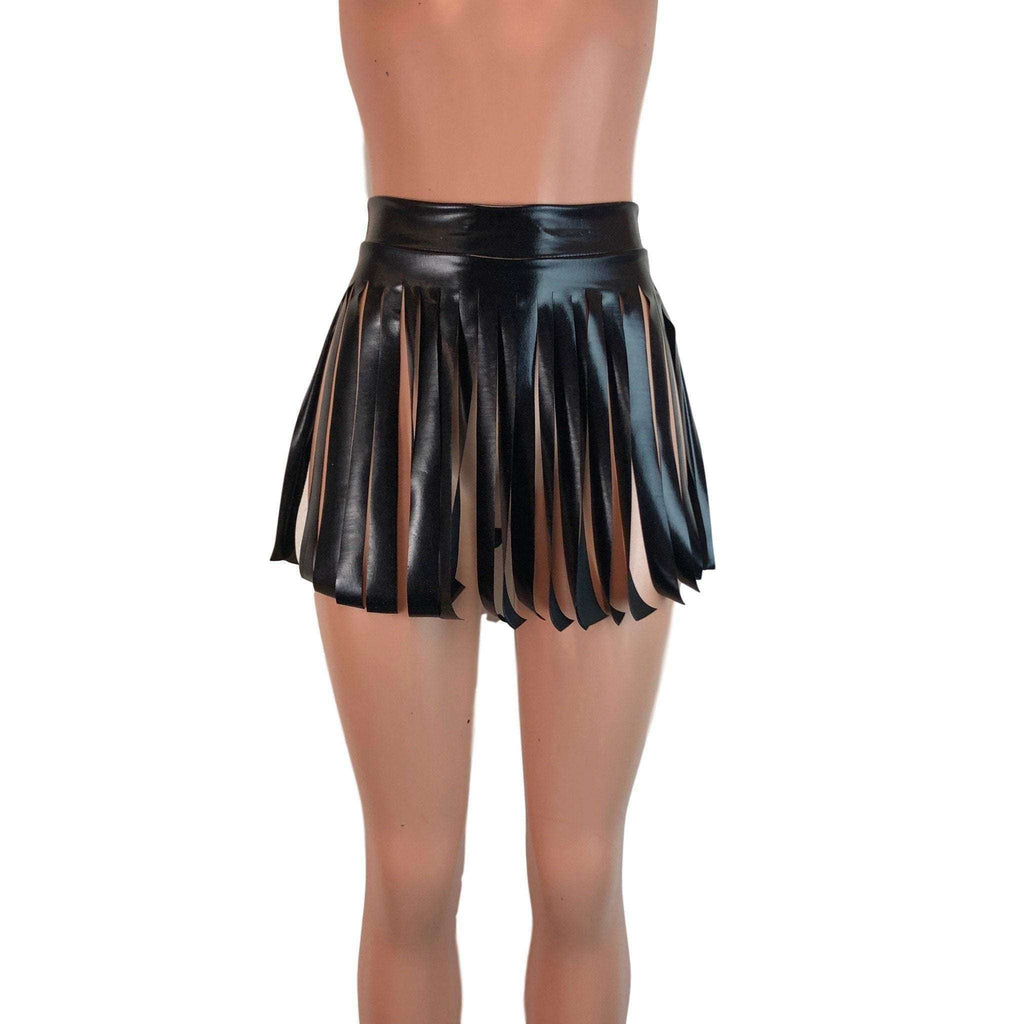 Fringe Skirt - Black Metallic - Peridot Clothing