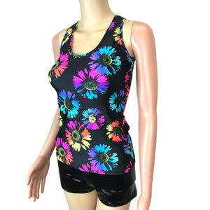 Full Length Tank Top - Electric Daisy Neon, women's tops
