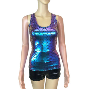 Full Length Tank Top - Mermaid Holographic - Peridot Clothing