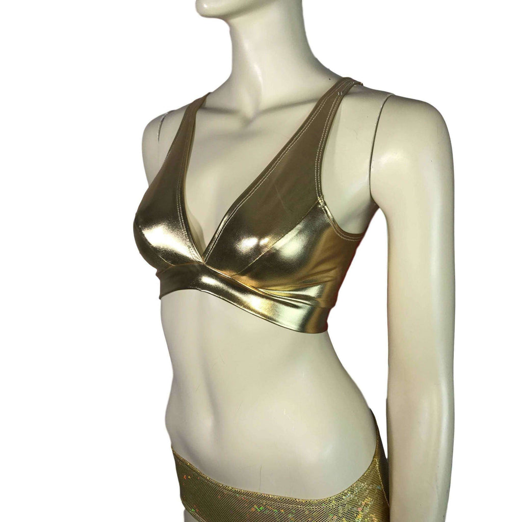 Gold Metallic Bralette - Peridot Clothing