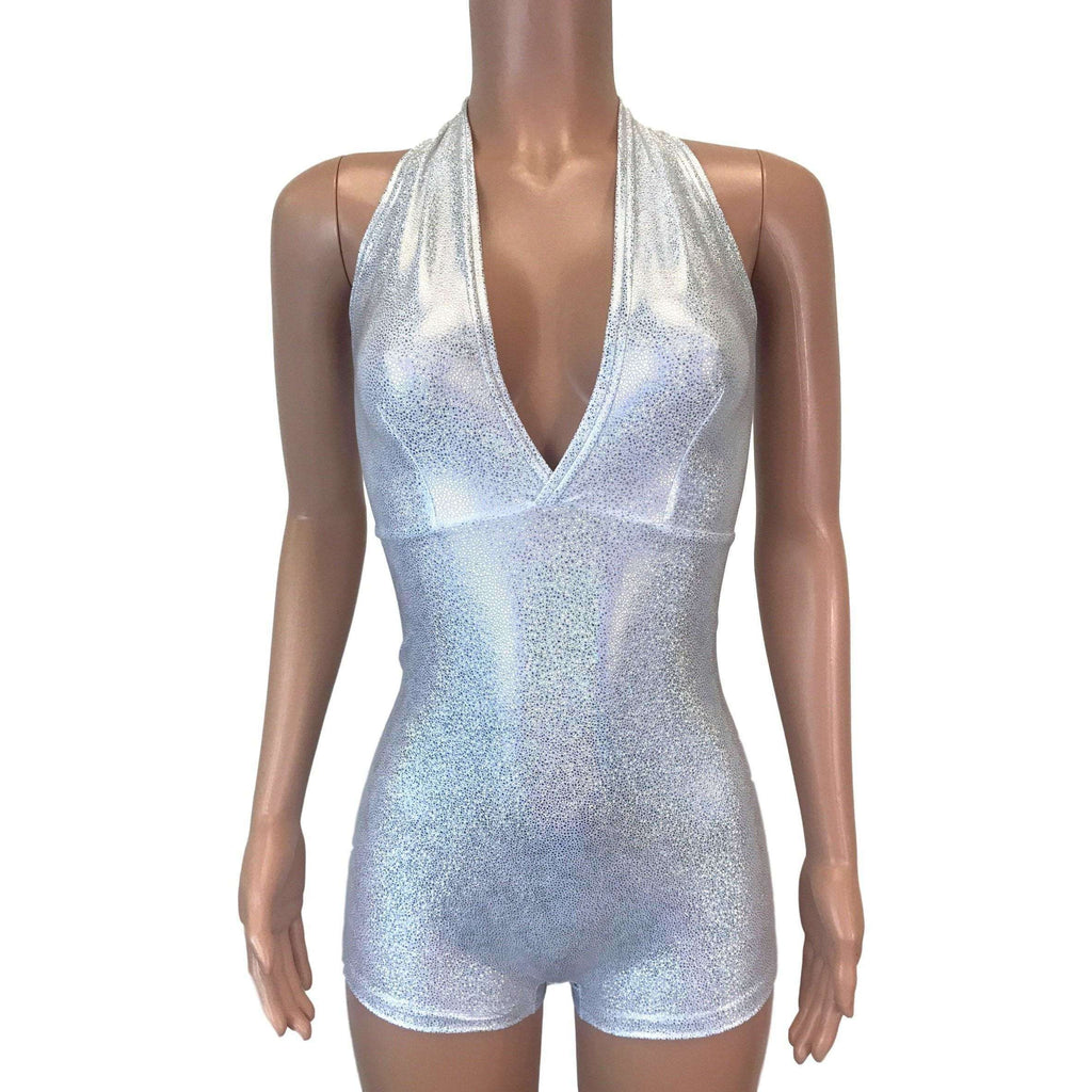 Halter Romper - Silver Holographic - Peridot Clothing