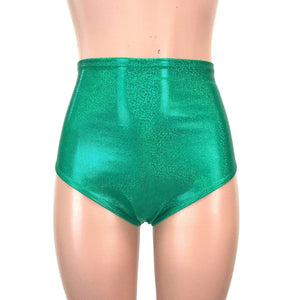 High Waist Hot Pants - Green Sparkle - Peridot Clothing