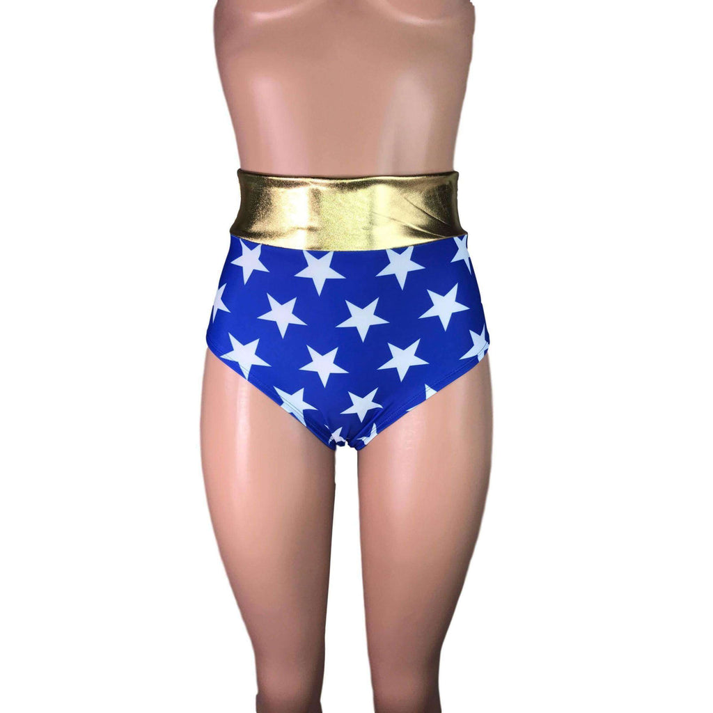 High Waist Hot Pants - Wonder Woman Inspired - Peridot Clothing