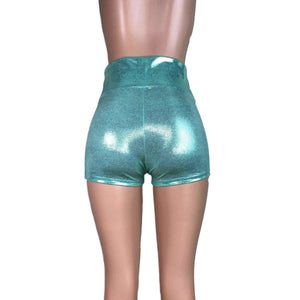 High Waisted Booty Shorts - Mint Green Mystique - Peridot Clothing
