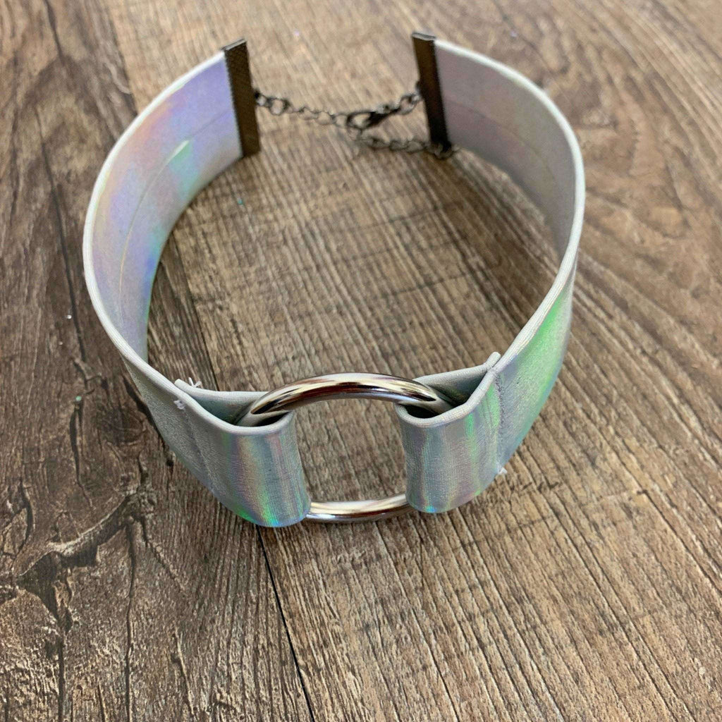 Holographic Opal Ring Choker - Peridot Clothing