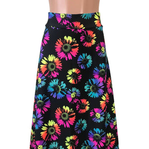 Maxi Skirt - Electric Daisy Neon - Peridot Clothing