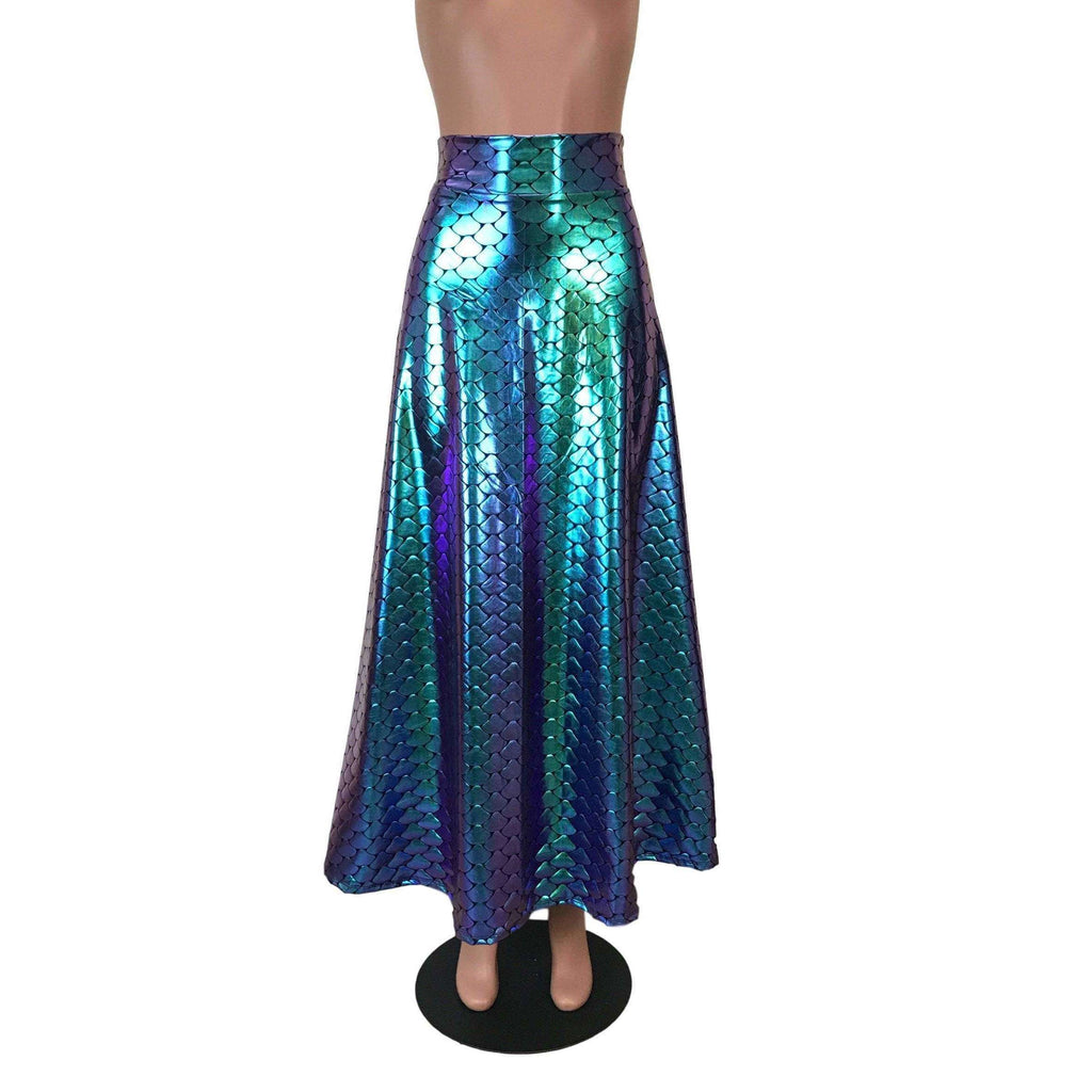 Maxi Skirt - Holographic Mermaid - Peridot Clothing
