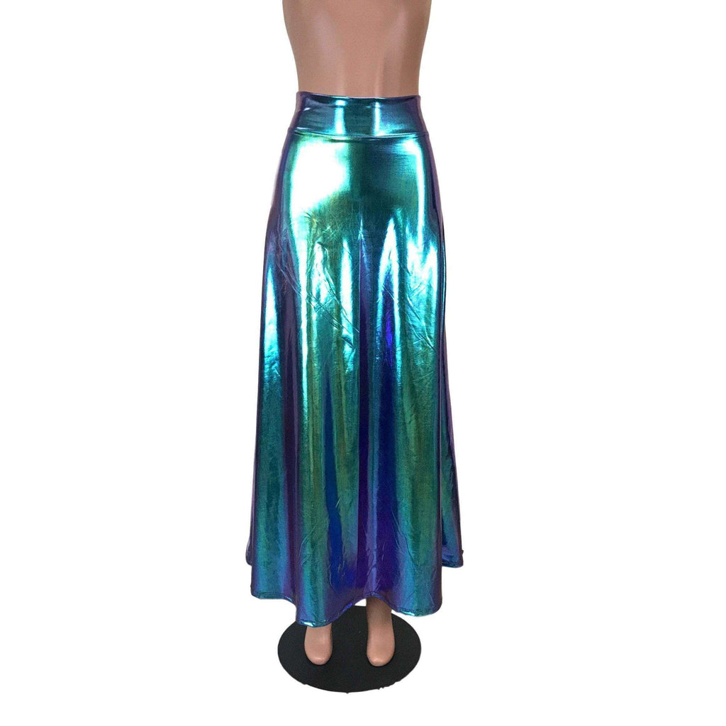 Maxi Skirt - Oil Slick Holographic - Peridot Clothing