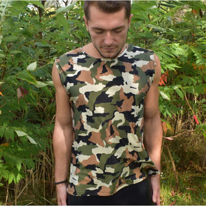 Men's Camouflage Tank, Muscle Shirt - Peridot Clothing