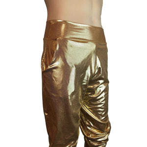 Men's Gold Mystique Metallic Jogger Pants w/ Pockets - Peridot Clothing