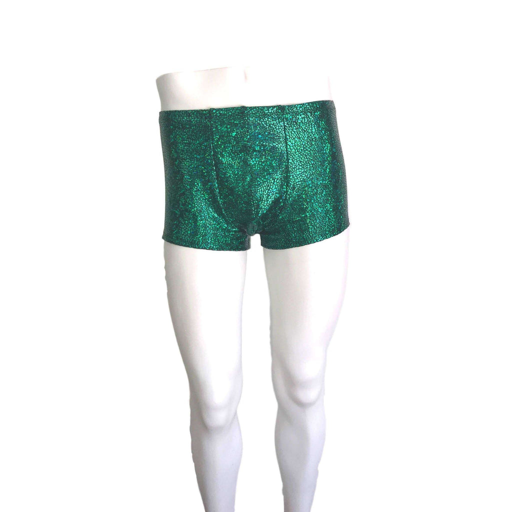 Men's Green Avatar Dragon Booty Shorts - Peridot Clothing