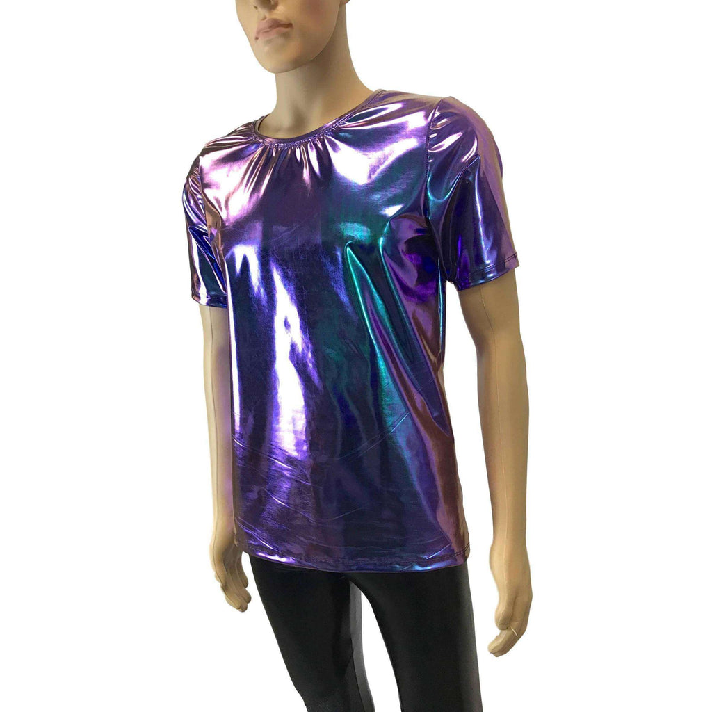 Men's Holographic Oil Slick Tee or T-shirt - Peridot Clothing
