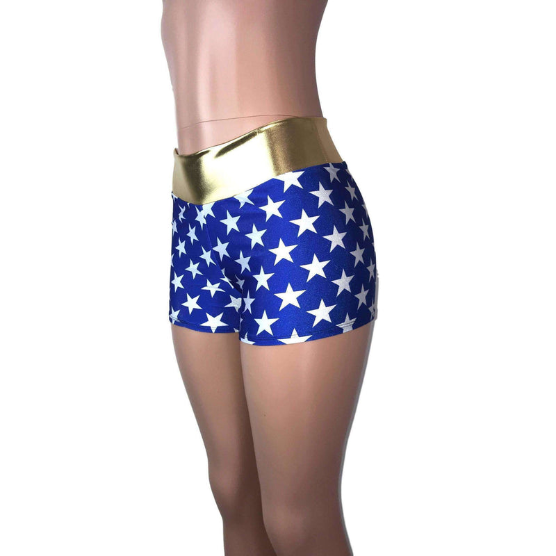 MID Rise Booty Shorts - Wonder Woman Inspired - Peridot Clothing