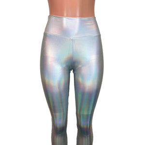 Opal Holographic High Waisted Leggings Pants - Peridot Clothing