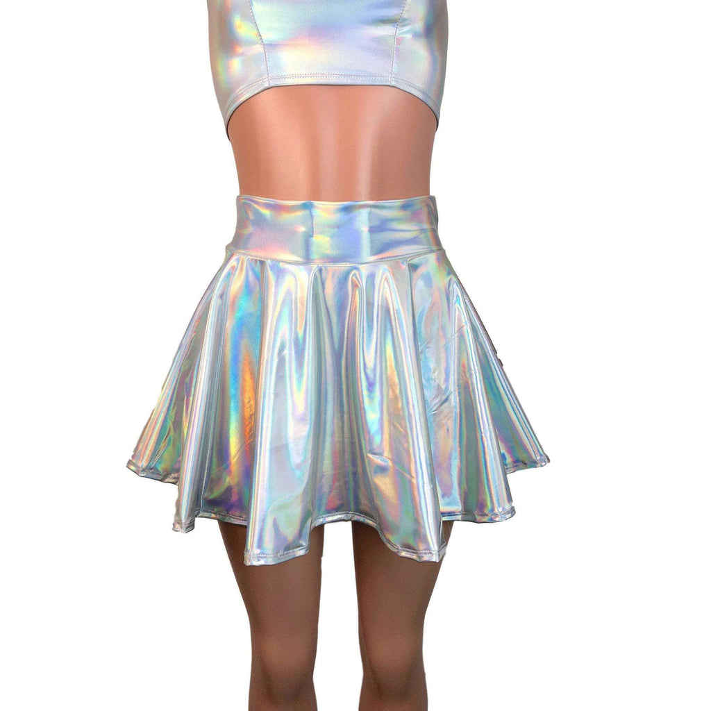 Opal Holographic Nylon Spandex Fabric by-the-yard - Peridot Clothing