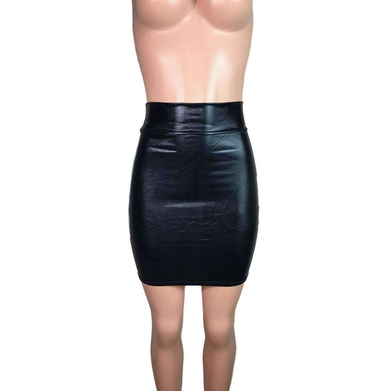 Pencil Skirt - Black Metallic