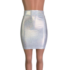 Pencil Skirt - Silver Holographic - Peridot Clothing