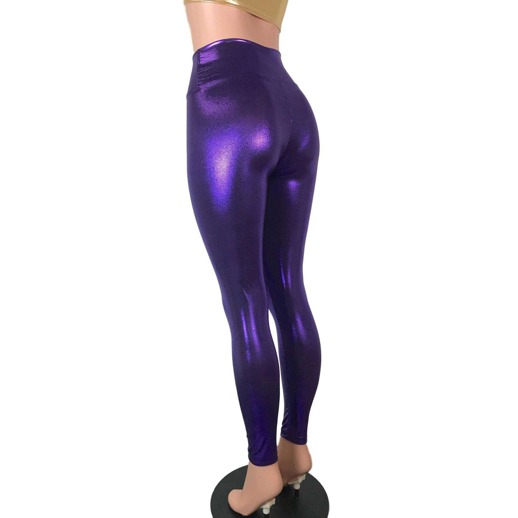 Purple Mystique High Waist Leggings Pants - Peridot Clothing