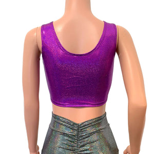 Purple Sparkle Ring Crop Top - Peridot Clothing