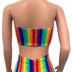 Rainbow Stripe Tube Top Bandeau - Peridot Clothing