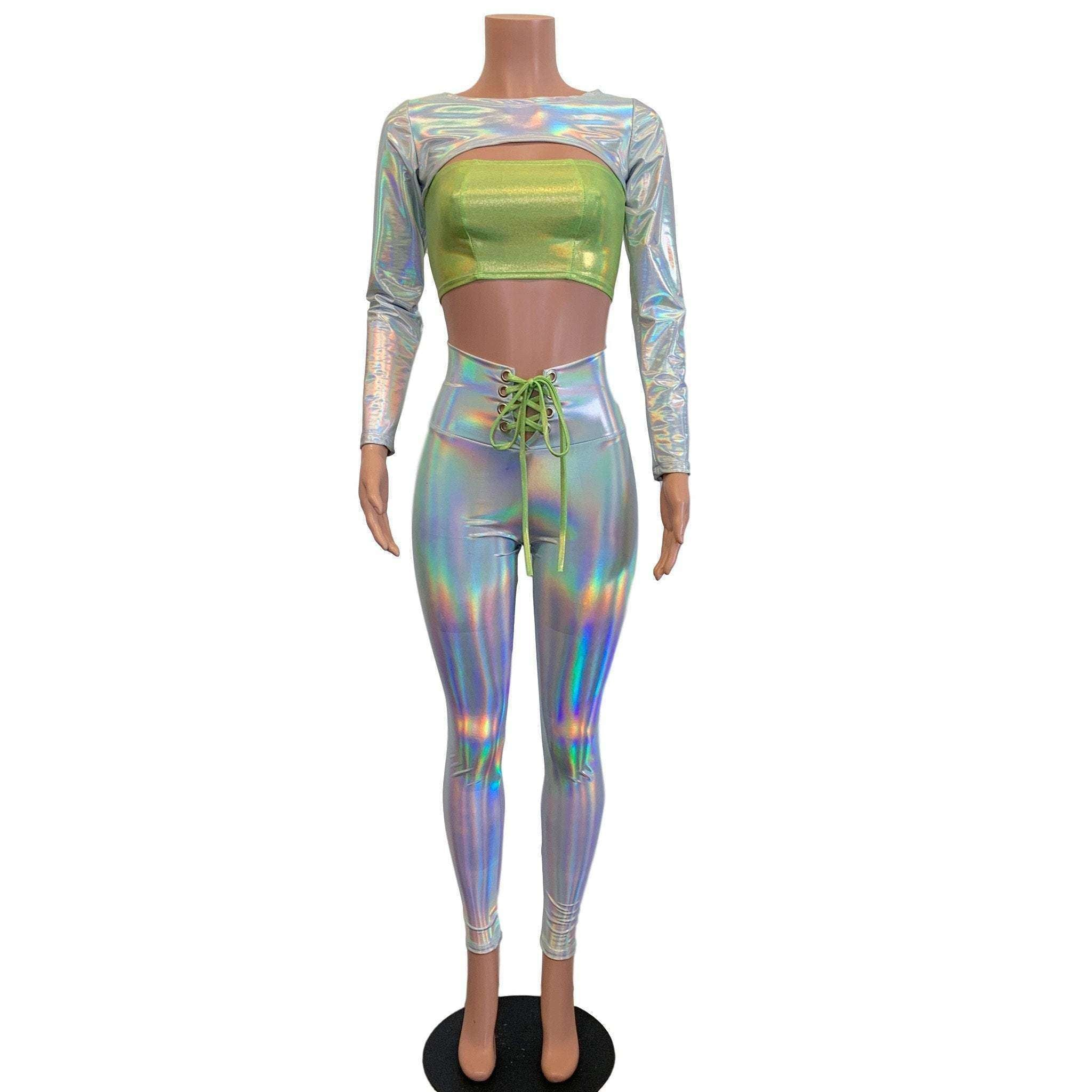 Rave Alien Costume - Opal Holographic Iridescent image