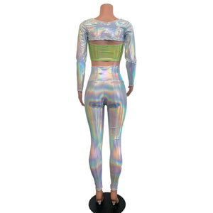 Rave Alien Costume - Opal Holographic Iridescent - Peridot Clothing