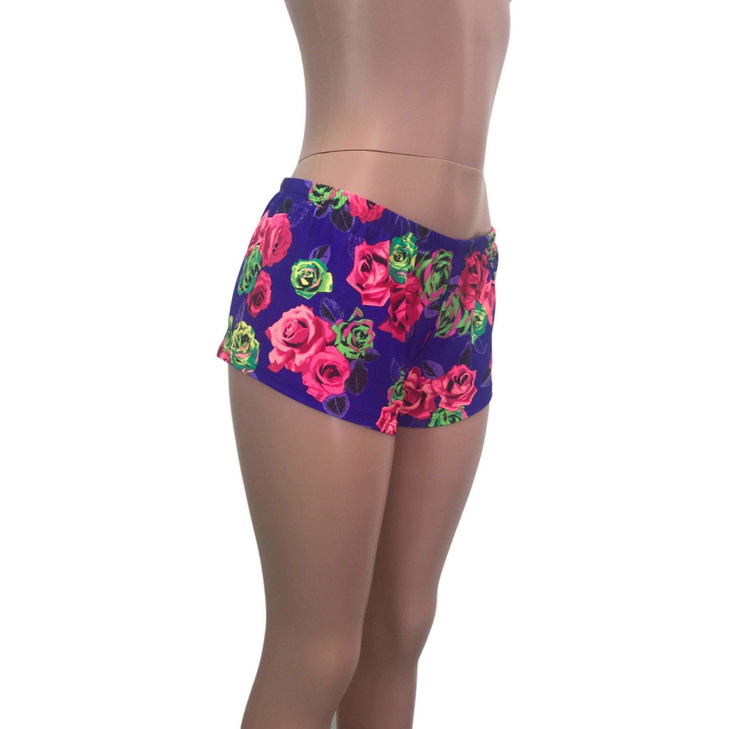 Rave Shorts - Neon Rose - Peridot Clothing