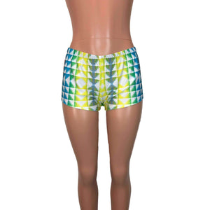 Rave Shorts - Neon Tetris - Peridot Clothing