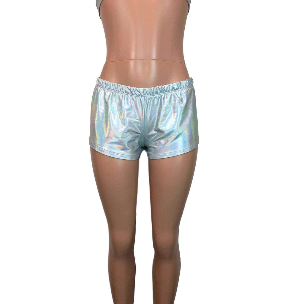Rave Shorts - Opal Holographic - Peridot Clothing