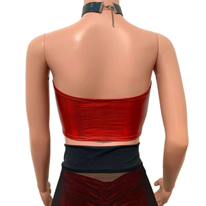 Red Holo Tube Top Bandeau - Peridot Clothing