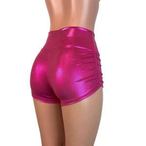 Ruched Booty Shorts - Pink Mystique Scrunch Shorts - Peridot Clothing