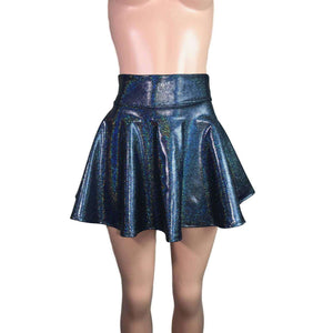 Skater Skirt - Black Holographic - Peridot Clothing