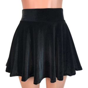 Skater Skirt - Black Velvet - Peridot Clothing