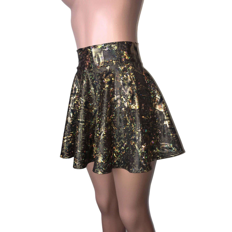 Skater Skirt - Black/Gold Story - Peridot Clothing