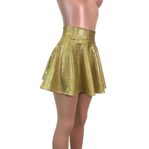 Skater Skirt - Gold Holographic - Peridot Clothing